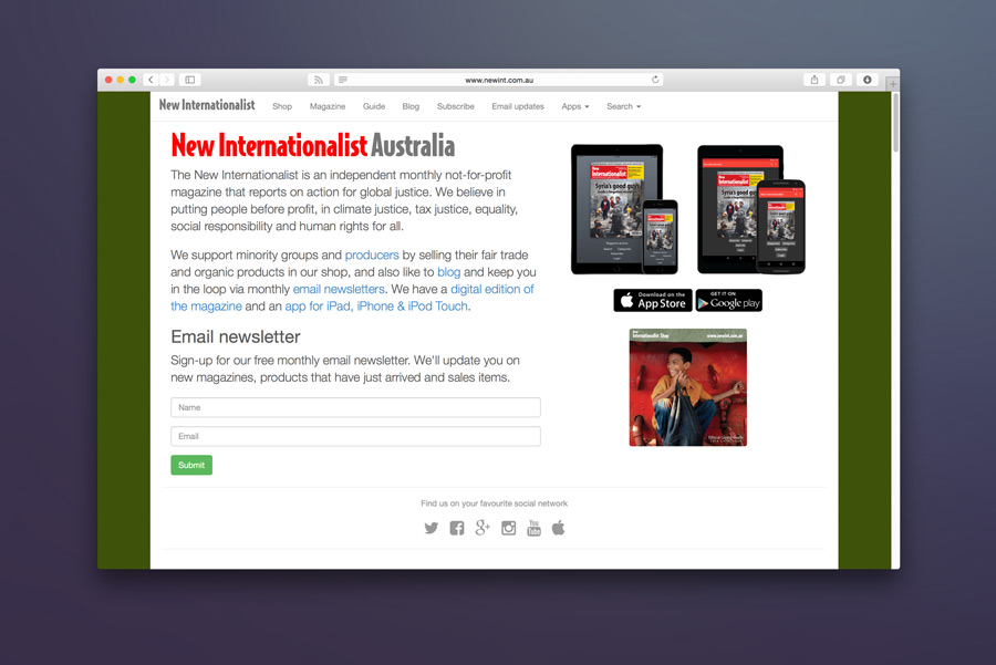 New Internationalist Fair Trade Shop