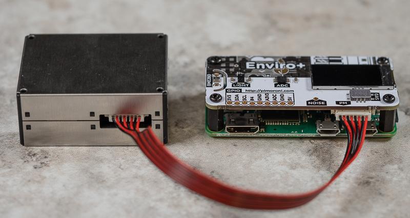 Enviro+ Raspberry Pi Zero air quality sensors.